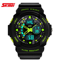 Men's Analog-Digital Multi-Functional 2 Time Zone Wrist Watch Men Sports Watch / SK1005