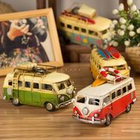 Rustic  vintage the surf board bus model /decoration