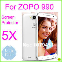 5pcs Ultra-Clear Film Free Shipping Zopo Zp990 Screen Protector,Smartphone Andriod Phone Zopo 990 Protective Film Screen Cover