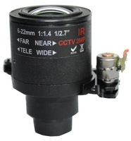Automatic 6-22mm Zoom Lens, 2MP, 2.7inch, Megapxiel Lens, IP Camera Lens, Using Software PTZ To Control  Zoom,Good Image