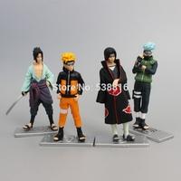 1 set 10cm/4 inch 4pcs/set Naruto Action Figures Gaara Uzumaki Naruto PVC Figure Toys Retail and Wholesale
