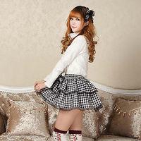 Plaid Goth Punk Lolita Schoolgirl Club Kawaii Mini skirt Lovely cosplay 010