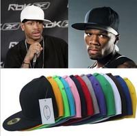 2014 Fashion baseball caps snapback hats and cap plain design hippop dancing cap adjusted 1pc