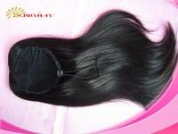 Stock Sunnymay  Brazilian Human Hair Virgin # 1B Color Ponytail