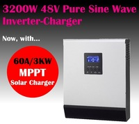 4KVA 3200w 48v to 220V mppt solar power inverter charger off grid solar inverter 60A mppt solar charger built in