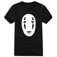 Free shipping the anime Japanese cartoon No-Face man Spirited away Hayao Miyazaki print large size short sleeve t-shirt