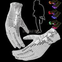 2014 Creative 7 Mode LED Flashing Gloves Light Finger Magic Light Glove for Halloween Dance Glove Party Decorations TK1208