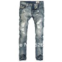 2013 new arrival men's fashion jeans famous brand,low waist cotton denim slim straight trousers designer jeans man large size 40