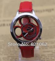 Wholsale Design Women Dress watches Quartz Watch fashion mickey Watch Ladies Sport Watch Free shipping