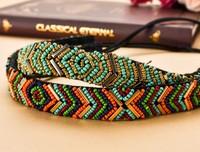 new  Fshion beads handmade beaded sewing Elastic headbands hair bands hair accessories 6pcs/lot