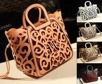 Hot-selling new 2013 fashion women leather handbags Classic Elegance hollow out handbag one shoulder bag messenger bag 7 colors
