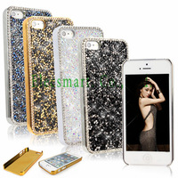Deluxe Elegant Brilliant Bling Diamonds Studded Chrome Back Case Cover Skin Shell For iPhone 5 5s
