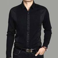 Hot-selling 2013 SEPTWOLVES men's autumn casual clothing long-sleeve shirt pure cotton shirt slim light