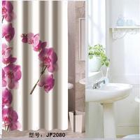 Bathroom products Pink flowers bathroom curtain shower curtain terylene bath curtain 180x200cm ,screen shower,curtain bath