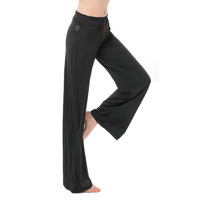France Brand Women Sports Fitness Trousers Girl Elastic Yoga Pants Lounge Spring New Arrival  Casual pants Black Cotton Material