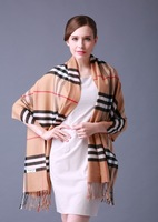 New winter Plaid Scarf Women's pashmina Shawl/warm cashmere thick Scarves/fashion checked pattern tassels Free Shipping/aZl