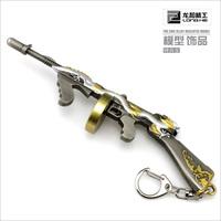 1/6 cross fire- thomson submachine gun model decoration hanging buckle
