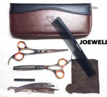 Salão de beleza profissional produtos de barbear tesoura de cabeleireiro profissional tesouras do cabelo ferramentas de estilo 5.5 e 6.0 polegada(China (Mainland))