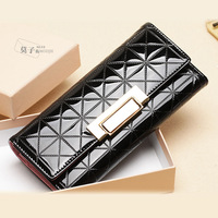 2013 Promotion Brand women's wallet good quality PU Leather multi-color metal hasp long coin purse women's wallet female