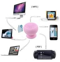 New 2014 Mushroom Mini Wireless Bluetooth Speaker Waterproof Silicone Sucker Hands Free Speakers For Phone PC Computer Player