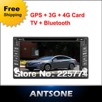 2 din 6.2'' car dvd player with GPS HD digital touch screen ,steering wheel control,ipod,stereo,radio,usb,BT,TV (optional)stereo