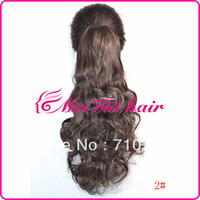 Free Shipping Lady's Fashion Cheap Long wavy Curly Claw Clips Hair Extensions Ponytail  #P006
