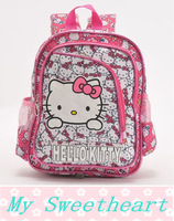 2014 New Children school bag Hello kitty backpack kids kindergarten travel bag girl boys princess mochila infantil cartoon bag