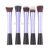 purple Professional Powder Blush Brush Facial Care Facial Beauty Cosmetic Stipple Makeup Tools Makeup Brush Foundation Brush