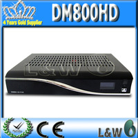 2pcs dm800hd M Tuner Satellite Receiver 300 MHz MIPS Processor Linux System Operation MPEG-2  by fedex  free shipping
