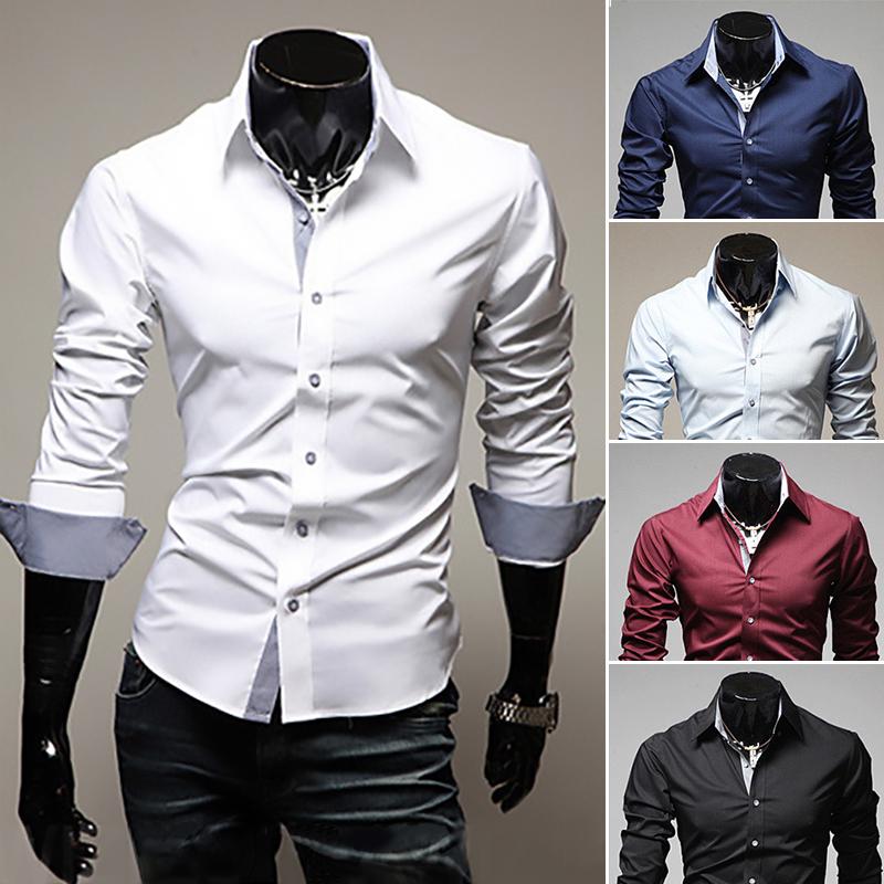 2015 spring and autumn casual men's long-sleeved shirts turn down collar slim fit fashion shirt men 9022(China (Mainland))