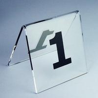 (1-10 Number)80x80cm  Dining tables transparent acrylic plate number Desktop Billboard No. 1-10 seat license(10pcs/set)