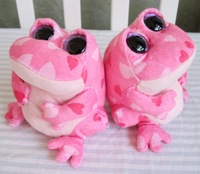 TY big eye plush toys soft pink frog doll 15cm2pcs /lot stuffed animal doll for baby Beanie Boos