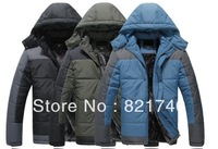 new 2014 Plus size european version cotton-padded male outerwear outside sport wadded jacket men's winter clothing 6XL 7XL 8XL