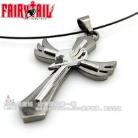 [2014 NEW FREE SHIPPING] Fairy Tail  necklace magic harbby mark of cross gray lucy natsu elza