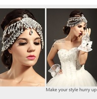 Luxury rhinestone flower beaded bride hair accessory wedding  marriage wedding jewelry eyebrows