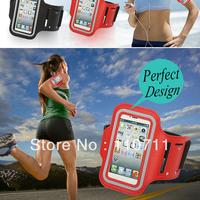 Free Shipping 50pcs/lot Sports Running Armband Case Workout Armband Holder Case Waterproof Armband Case for Iphone 4G 4S