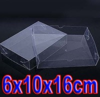 6x10x16cm Commodity PVC transparent box jewelry plastic gift box with covered (over 500pcs can silk screen printing on box )