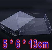 5x6x13cm transparent PVC gift box plastic cake box gift towel storage box 5 * 6 * 13cm (accept silk screen printing on box)
