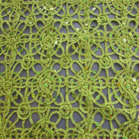 Delicate Design! haut couture lace fabric cord net with 7mm laser sequin embroidered fabric