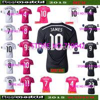 14/15 Soccer Jersey Real Madrid Jersey 2015 Real Madrid 14 15 RONALDO Pink BALE KROOS Away JAMES Rodriguez 3RD Black Dragon 2014