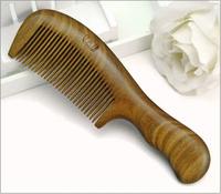 High quality natural green sandalwood combs straight hair comb anti-static anti-hair loss