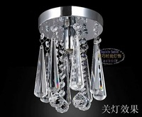 Fashion ingenues balcony entranceway bar crystal pendant light brief child real  lamps