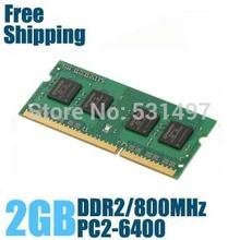 Brand New Sealed Sodimm DDR2 667 Mhz / 800Mhz / 533Mhz 1GB / 2GB RAM del ordenador portátil para la garantía de la memoria / Vida / Envío Gratis !!!(China (Mainland))