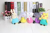 10 set  9pcs/set  New item 19cm/30cm Peppa Pig Family & Peppa Pig's Friends Plush gift Toys Doll  wholesale