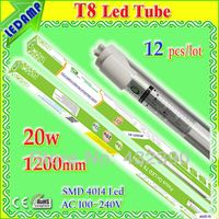 12 pcs/lot  20W SMD 4014 t8 led tube light 1200mm 120cm led tube lamp warm white / pure white 7 kinds of connect way CE Rohs PSE