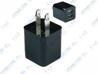 5V 2.1A Dual USB US EU wall Charger Adapter for iphone 6s 6 5 5s 5c 4 4S ipad Air 5 ipad mini 2 Samsung Galaxy S5 S4 S3 100pcs