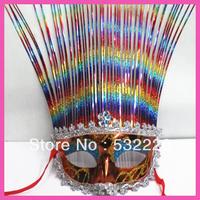 Free shipping hot sale colorful fun dance liangsi makeup party mask for dancing performances