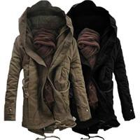 New Fashion Mens Boy Winter Warm Thicken Parka Fur Faux Hoodie Hood Trench Coat Jacket TOP Outerwear Overcoat Long Sleeve Zipper