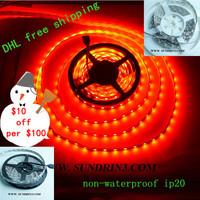 $10 off per $100 DHL free shipping 100m/lot LED strip 5050 12V flexible light 60LED/m 5m 300LED  rgb led strip non-waterproof