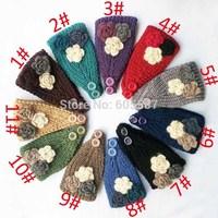 10 pieces / lot New Fashion Winter Women Knitted Headband Handmade Crochet Flower Headbands Women Headwrap 0405